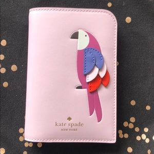 Kate Spade Passport Holder Flock Party Pink Multi